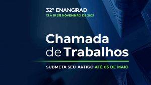 32º Enangrad aceitará submissão de artigos até 5 de maio