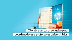 Read more about the article Faça parte e conheça as iniciativas do Sistema CFA/CRAs para o mundo acadêmico